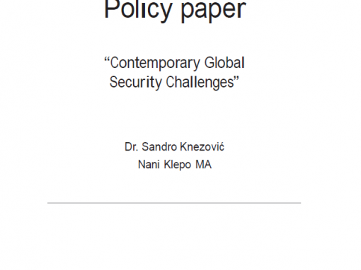 "Studija ""Contemporary Global Security Challenges"""