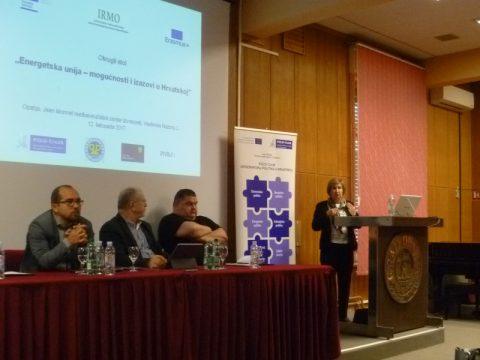 """Najava okruglog stola """"Energetska unija – mogućnosti i izazovi u Hrvatskoj"""""""