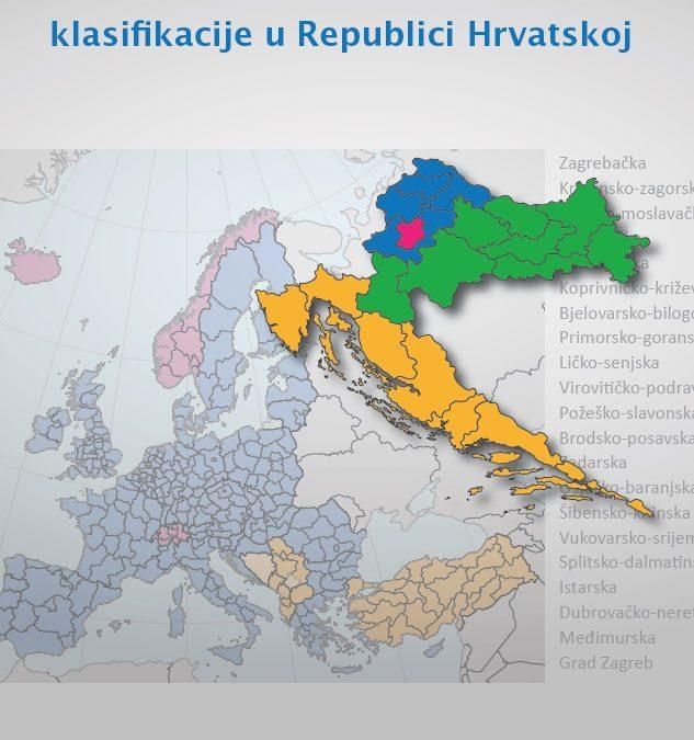 Studija: Izrada prijedloga nove NUTS 2 klasifikacije u Republici Hrvatskoj