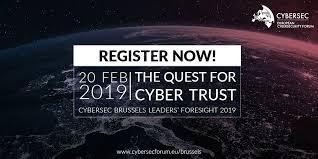 "Konferencija ''European Cybersecurity Forum – CYBERSEC Brussels Leaders' Foresight"""