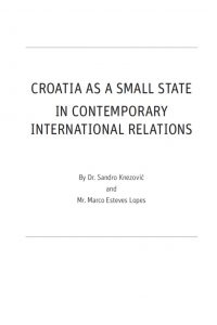 Studija Croatia as a small state in contemporary international relations