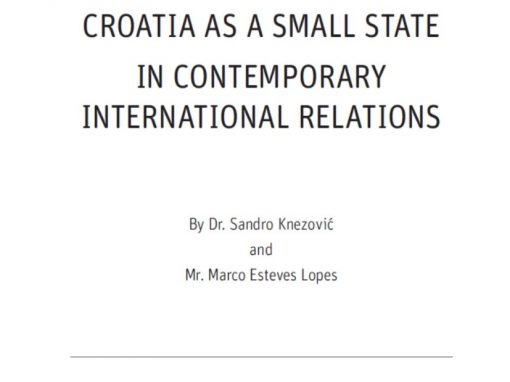 "Studija ""Croatia as a small state in contemporary international relations"""