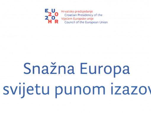 """Najava konferencije: """"Nadolazeće predsjedavanje Republike Hrvatske Vijećem EU – poticaj za Jugoistočnu Europu?"""""""