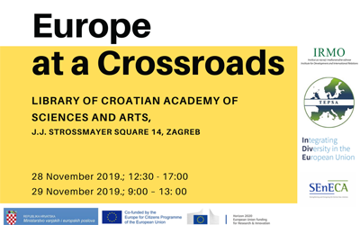 "Invitation to ""Zagreb EU Pre-Presidency Conference – Europe at a Crossroads"""