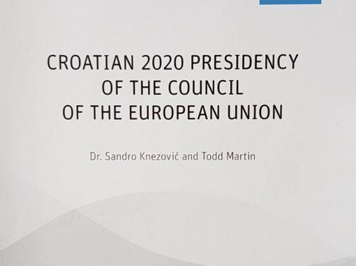 """IRMO predstavio studiju """"Hrvatsko predsjedanje Vijećem Europske unije 2020 – izazovna prilika za međunarodnu afirmaciju"""""""
