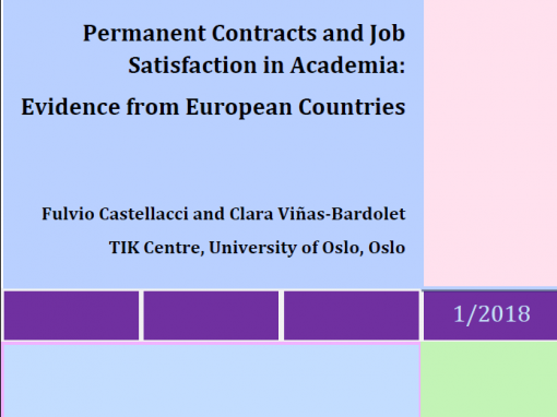 "Objavljen novi broj IRMO Occasional Papers ""Permanent Contracts and Job Satisfaction in Academia: Evidence from European Countries"""