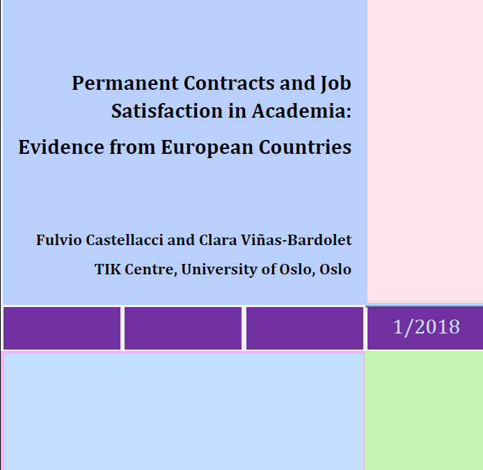 "IRMO Occasional Papers ""Permanent Contracts and Job Satisfaction in Academia: Evidence from European Countries"""
