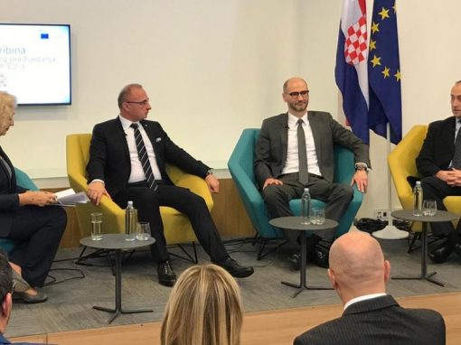 Sandro Knezović participated at the Public Debate of Croatian Radio – Challenges of Croatian EU Presidency