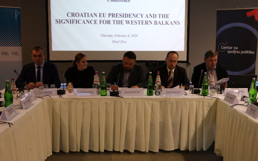Sandro Knezović participated at the international conference 'Croatian EU Presidency and its Importance for Western Balkans'