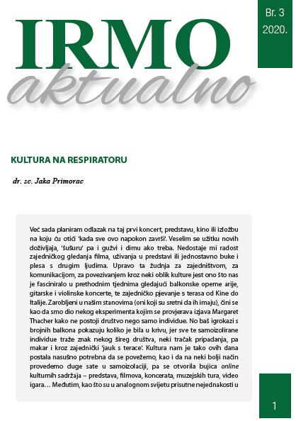 """IRMO aktualno """"Kultura na respiratoru"""""""