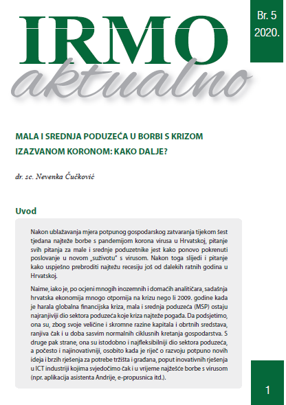 """IRMO aktualno """"SMEs in the fight against the corona-induced crisis: what to do next?"""""""