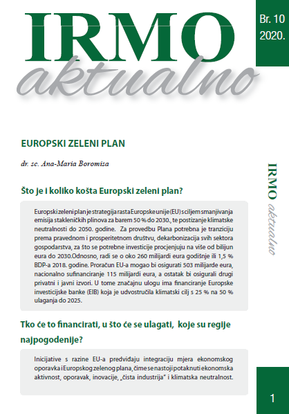 "IRMO aktualno ""European green deal"""