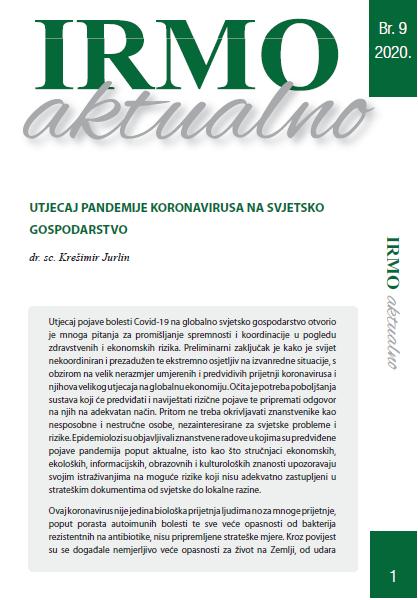 "IRMO aktualno ""The impact of the coronavirus pandemic on the world economy"""