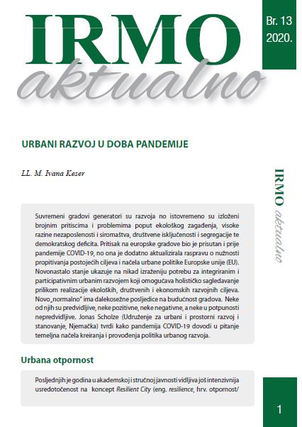 "IRMO aktualno ""Urban development during the COVID-19 pandemic"""