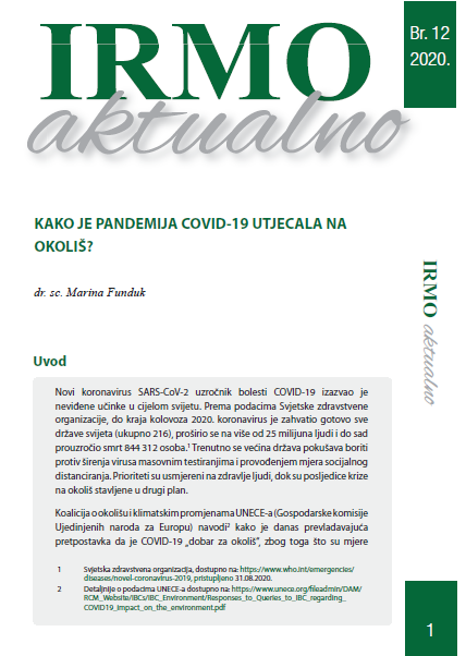 """IRMO aktualno """"How did the COVID-19 pandemic affect the environment?"""""""