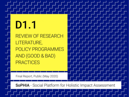 Objavljena prva isporuka SOPHIA projekta - D 1.1 Review of Research Literature, Policy Programmes and (good and bad) Practices