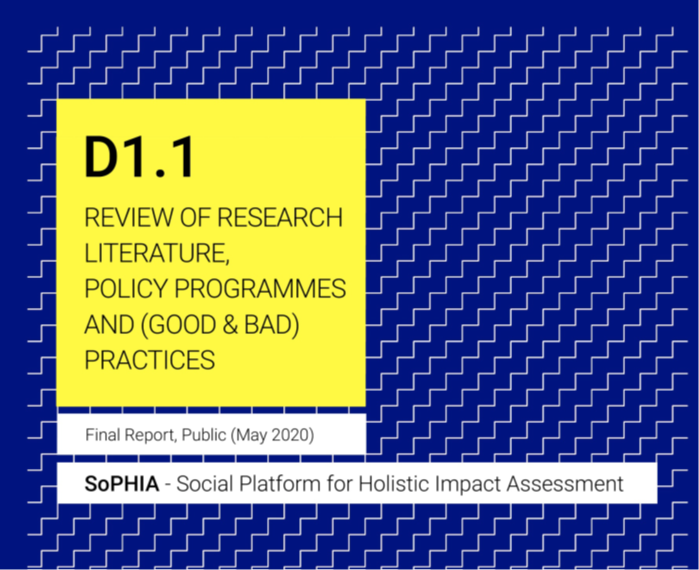 SOPHIA project first deliverable – D 1.1 Review of Research Literature, Policy Programmes and (good and bad) Practices