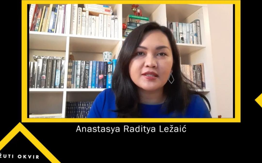 Anastasya Raditya Ležaić won the 2020 Yellow Frame Award for Sustainable Development, Science and Education