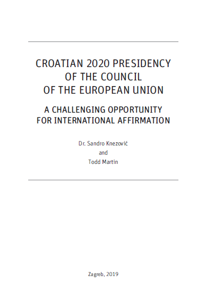 "IRMO presented the study ""Croatia's 2020 Presidency of the Council of the European Union – A challenging opportunity for international affirmation"""