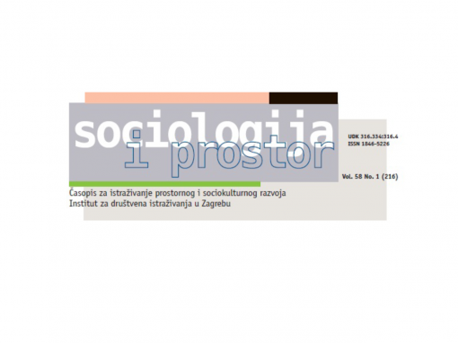 Jaka Primorac published an article in the 'Sociology and Space' journal referred in SCOPUS database