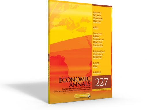 Nevenka Čučković and Valentina Vučković published an article in journal Economic Annals indexed in SCOPUS