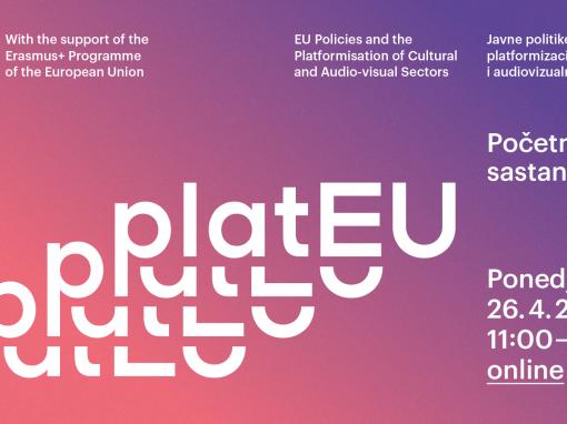 Poziv na početni sastanak projekta platEU, 26.4.2021. 11:00-13:30h (ONLINE)